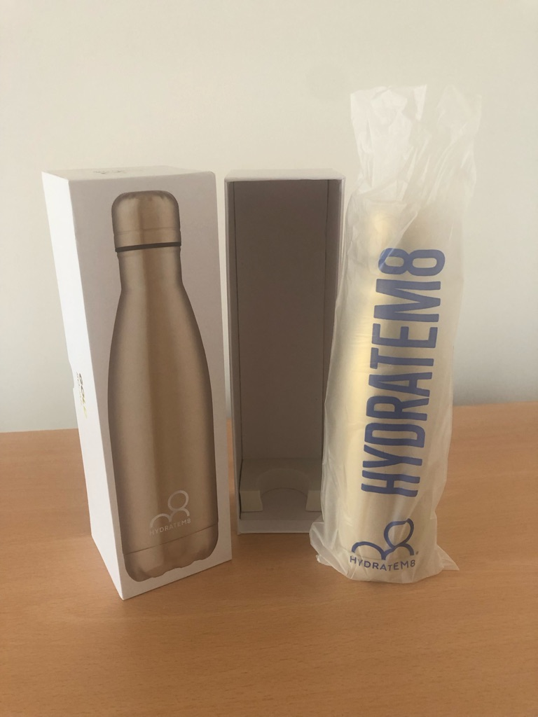 Hydrate M8 Gold Insulated Water Bottle