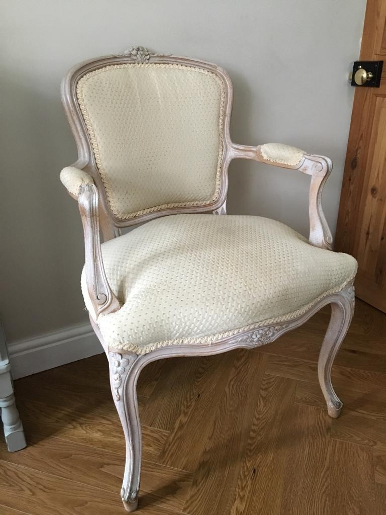 Vintage French Ladies Bedroom Armchair