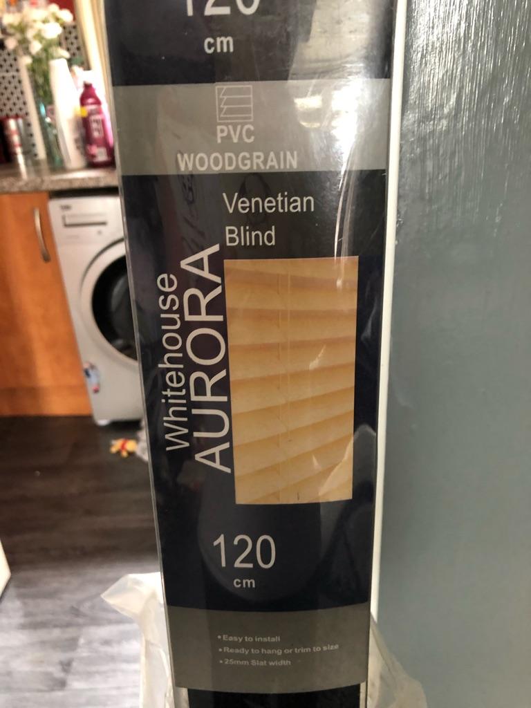 Black Venetian blinds