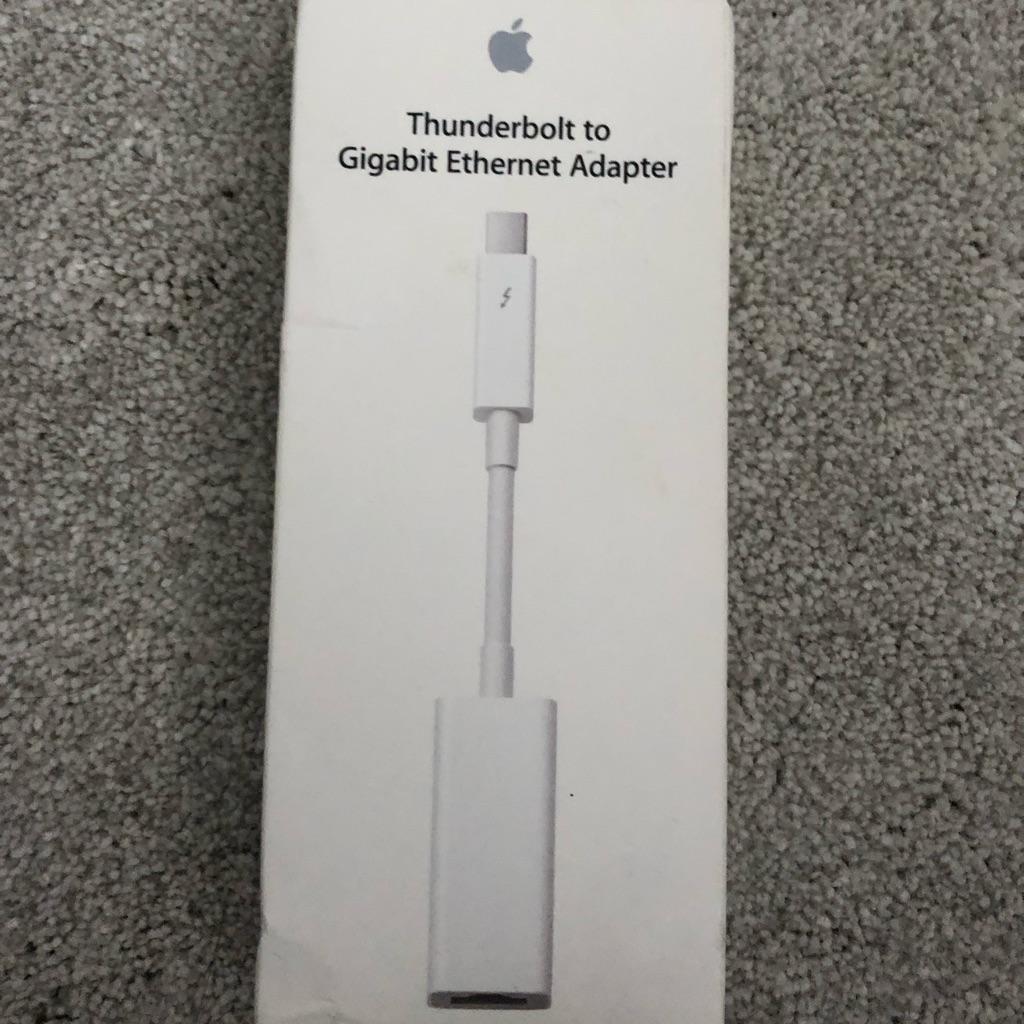 Original Apple thunderbolt to gigabit Ethernet adapter