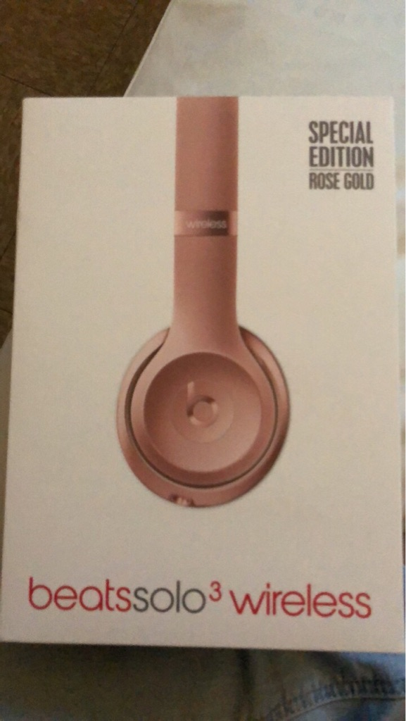 Rose gold wireless beats