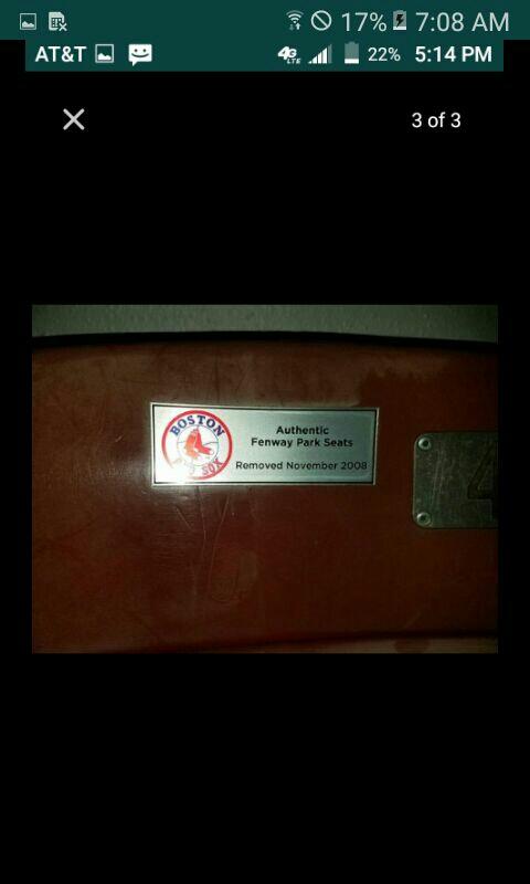 Fenway Park Seats
