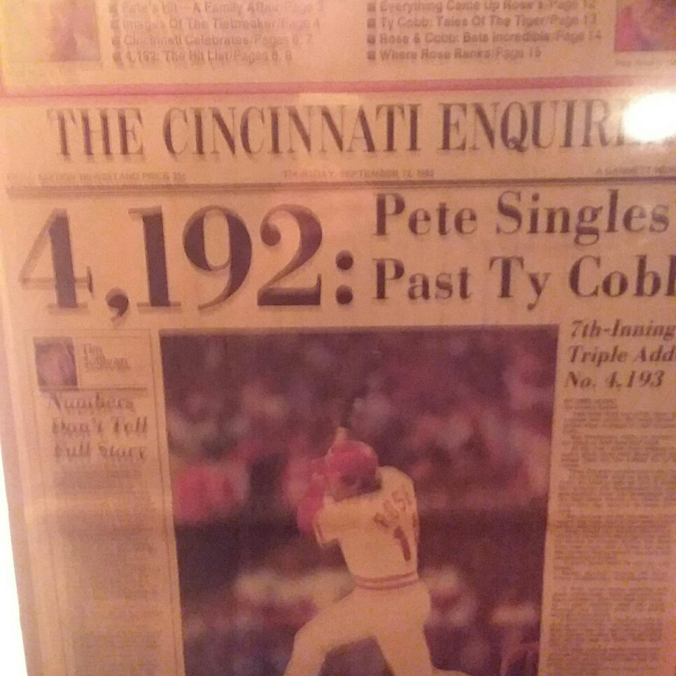 Pete Rose autographed sealed newspaper