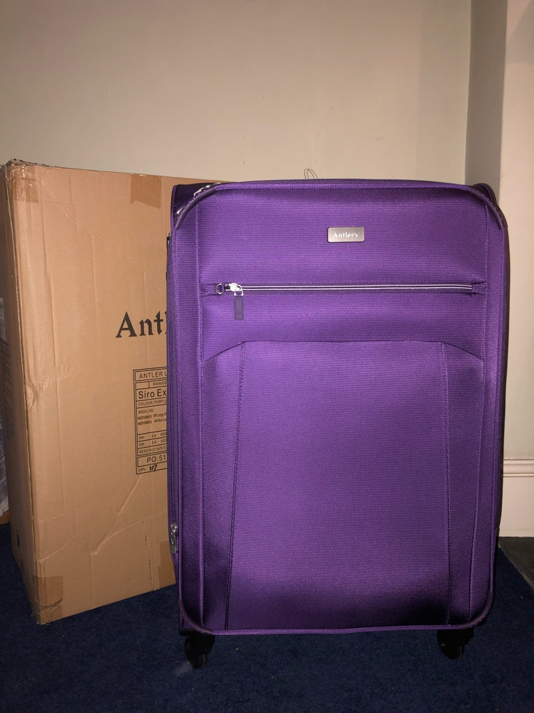ANTLER EXCLUSIVE SIRO SUITCASE BRAND NEW PURPLE
