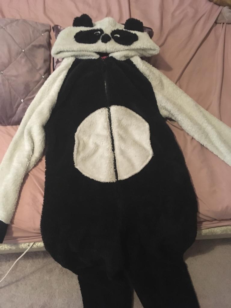 Panda Onesie fits 12-14