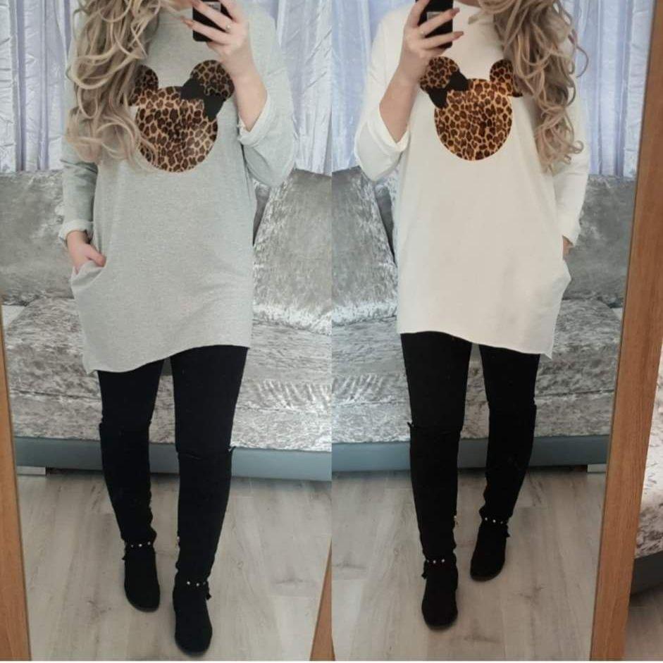 Leopard minnie pocket dress