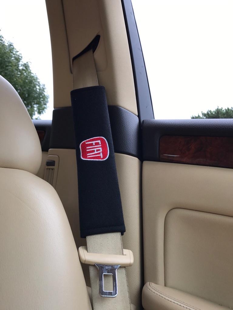 2X Seat Belt Pads Gift Fiat 500 CXL Panda Punto Evo Bravo Doblo Tipo