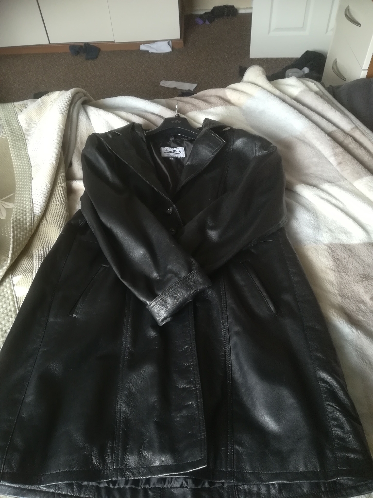 Italian leather jacket in Black