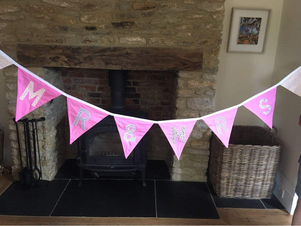 For wedding - Mr and Mrs (2.21m) and Thank You (2.92m)bunting