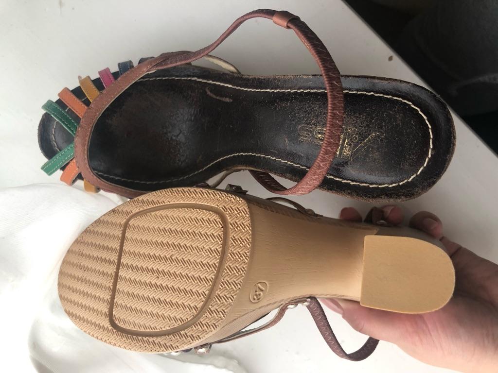 Colourful sandals size 4
