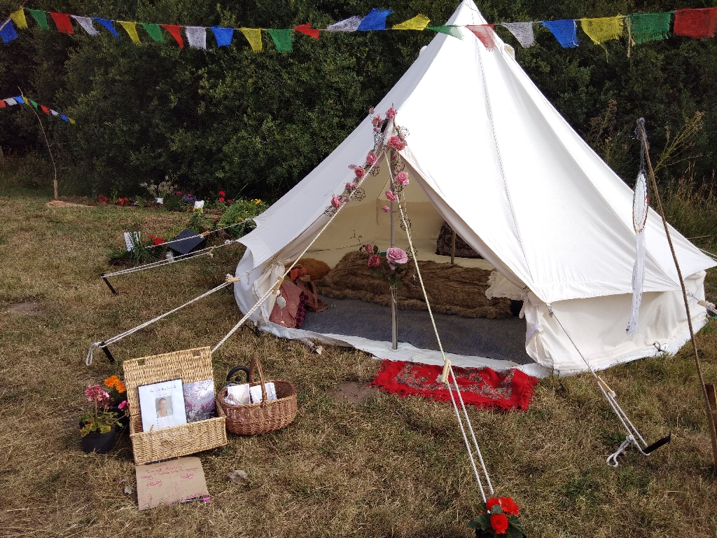 4m bell tent used once