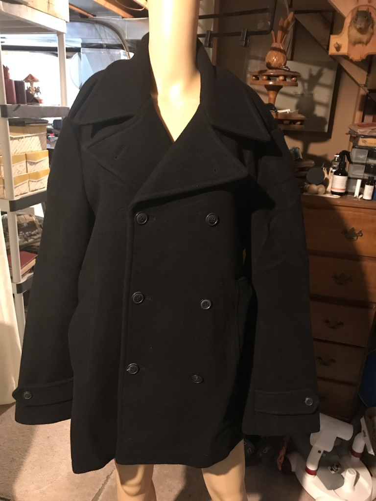 Polo by Ralph Lauren 100% Wool Double Breasted Pea Coat