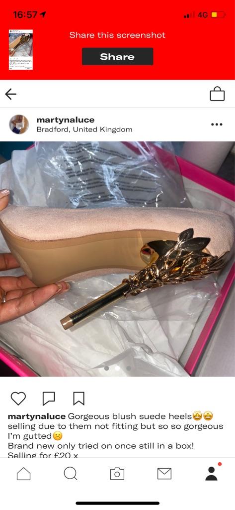 Gorgeous blush suede heels🤩🤩