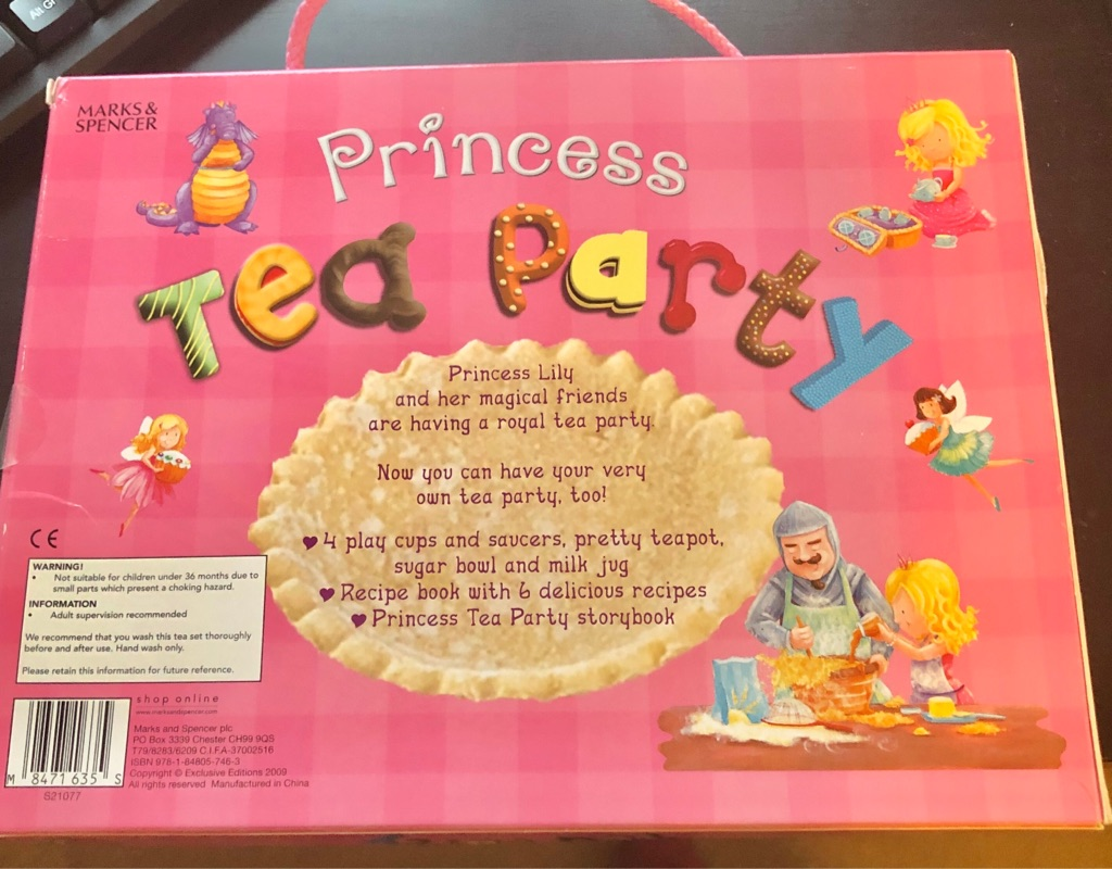 MARKS AND SPENCER PRINCESS TEA PARTY SET