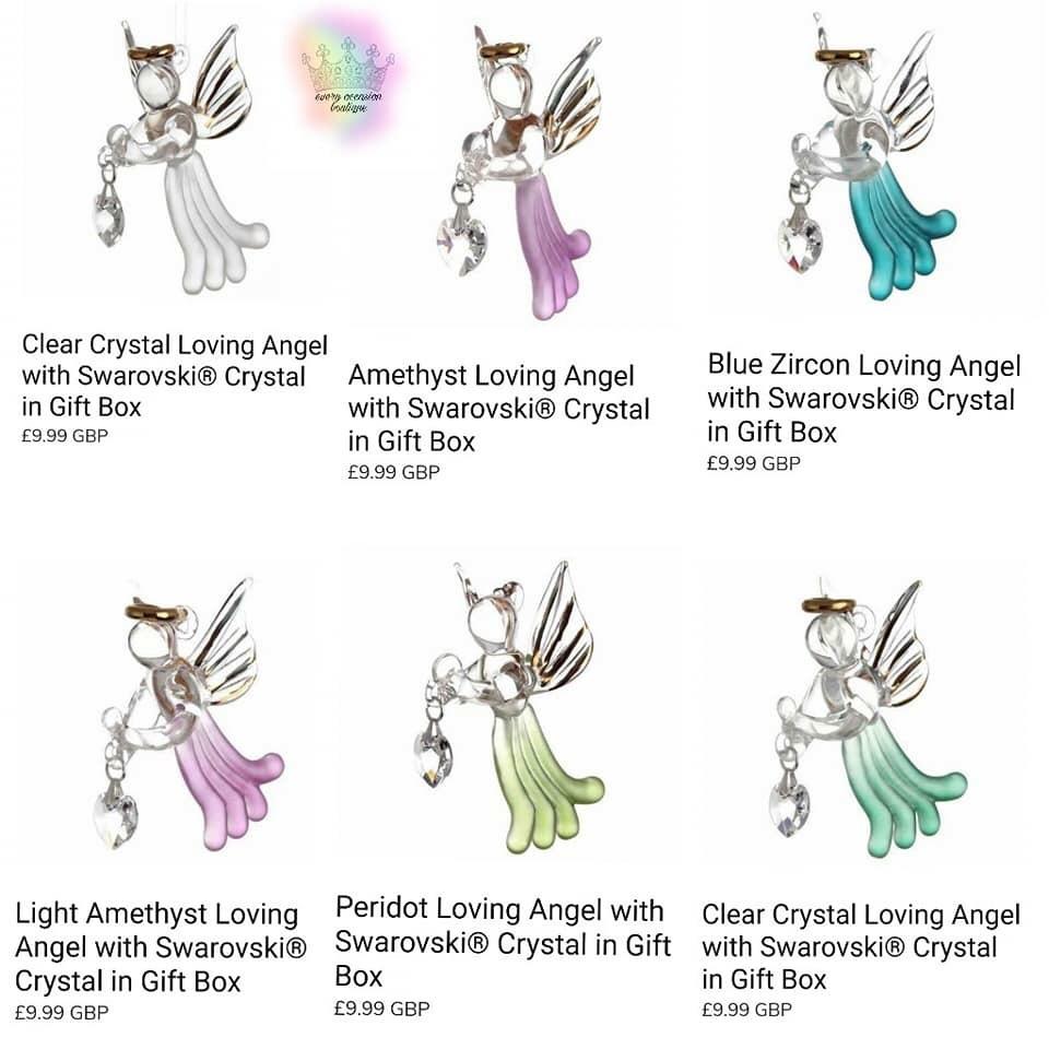 Loving Angel with Swarovski Crystal in Gift Box