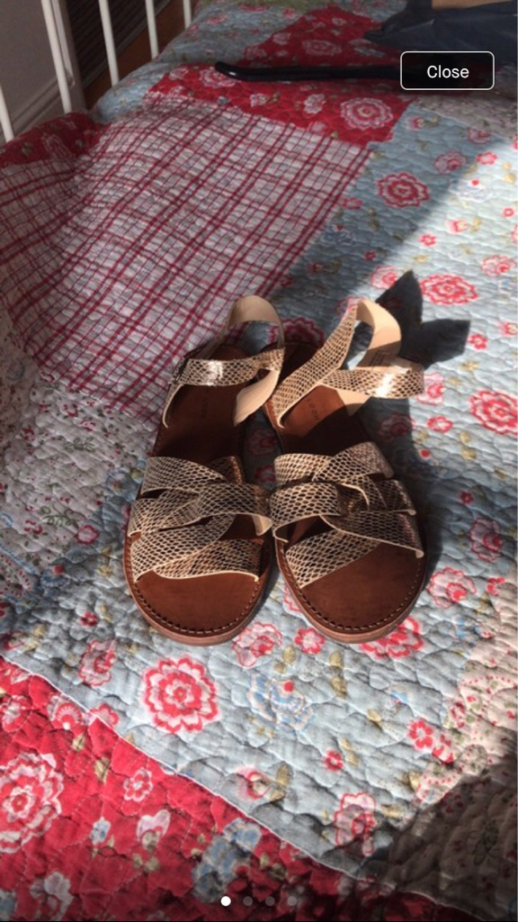 New Look new gold sandals size 6