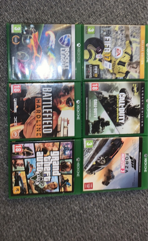 6 Xbox one. Games