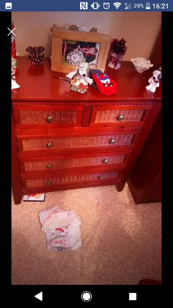 Rosewood drawers and wardrobe