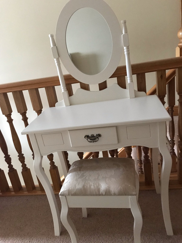 Girls dressing table and matching stool