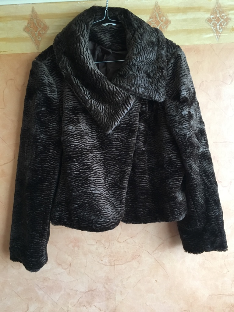 Bertetex vintage faux fur jacket