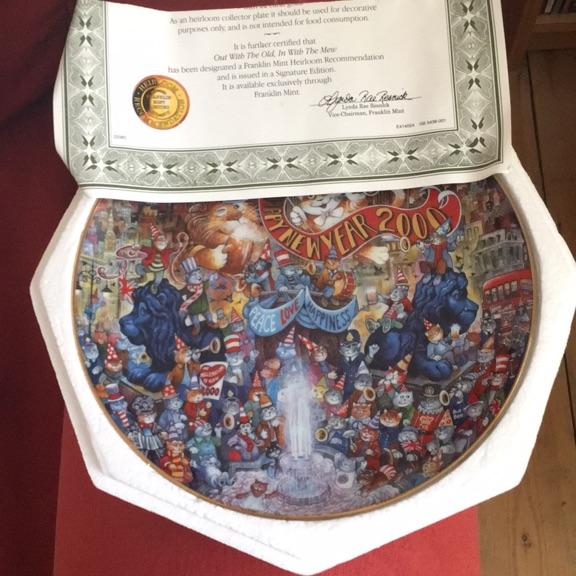 Franklin Mint millennium plate.
