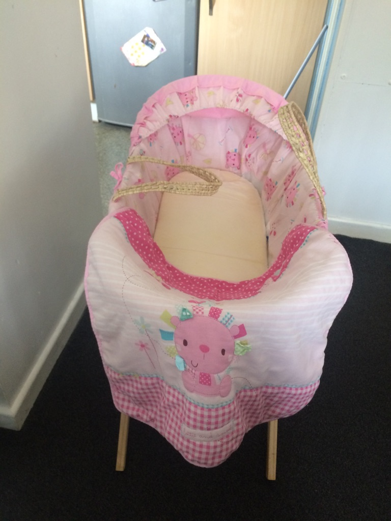 Moses basket 2 stands and baby gym