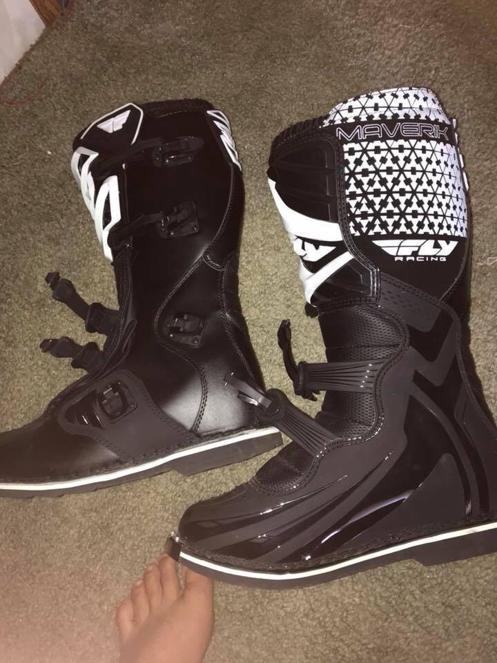 Maverick fly racing boots size 12 asult