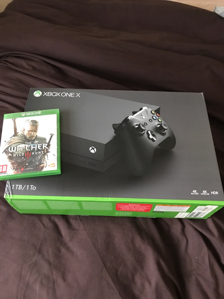 Xbox One X Brand New W/ The Witcher 3 Wild Hunt