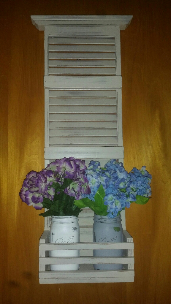 Refurbished shutter wall decor!!