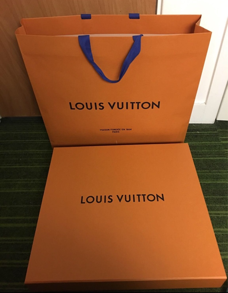 Louis Vuitton orange gift bag & box large