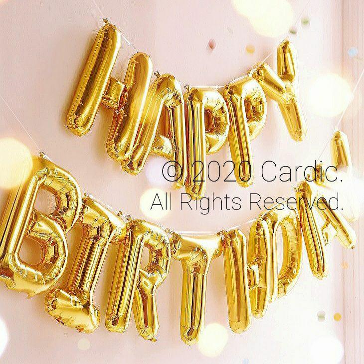 (Gold) Happy Birthday Balloons 16-inch   (金色) 生日快樂 字母波波氣球 16吋   🎈Party/Celebration/Banner/Letters   🎈派對/記念日/慶祝活動/裝飾佈置/橫幅 🌏 Free International/Local Shipping!! 🎉 [限時優惠] 包 吹管1枝 繩帶1條