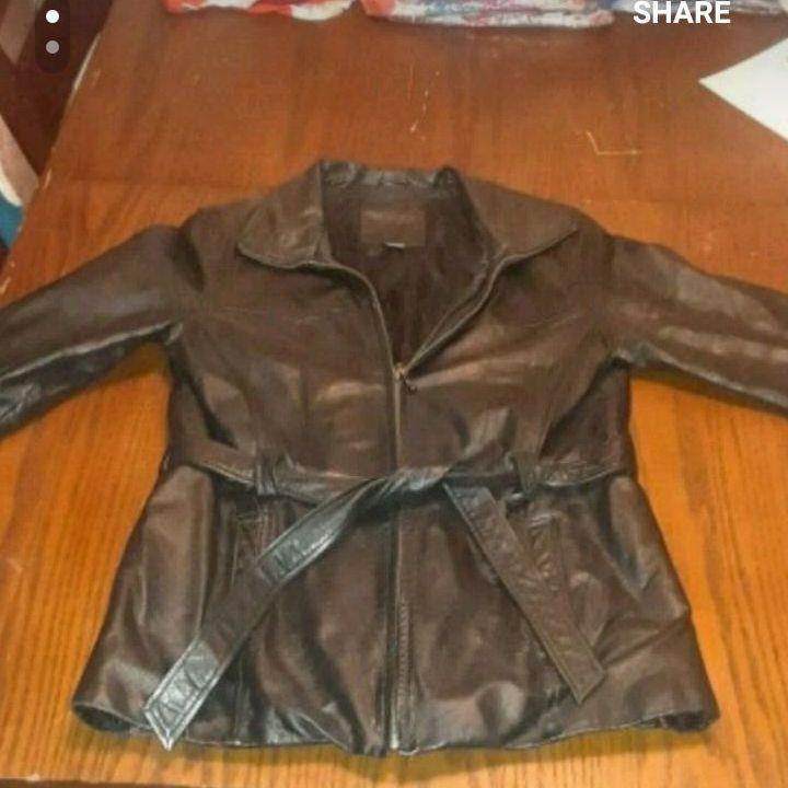 Females leather jacket