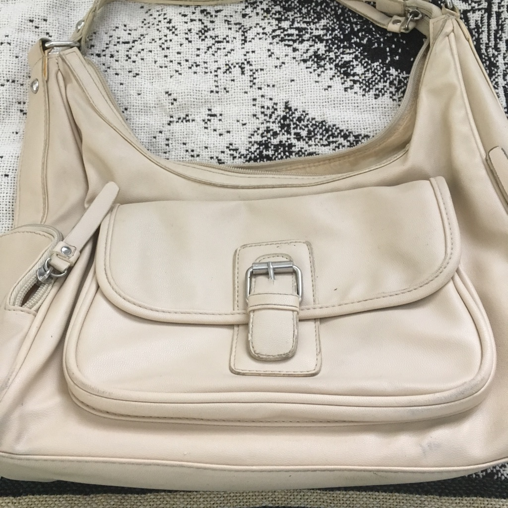 Cream Leather Purse $30 obo