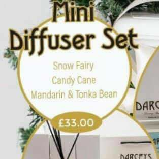Mini reed diffuser gift set