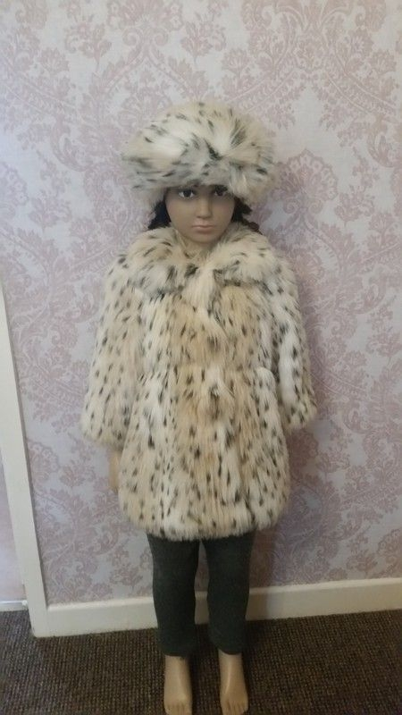 18 months fur couche coat with hat