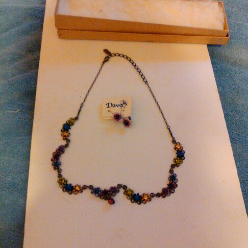 Necklace and earrings by Dava