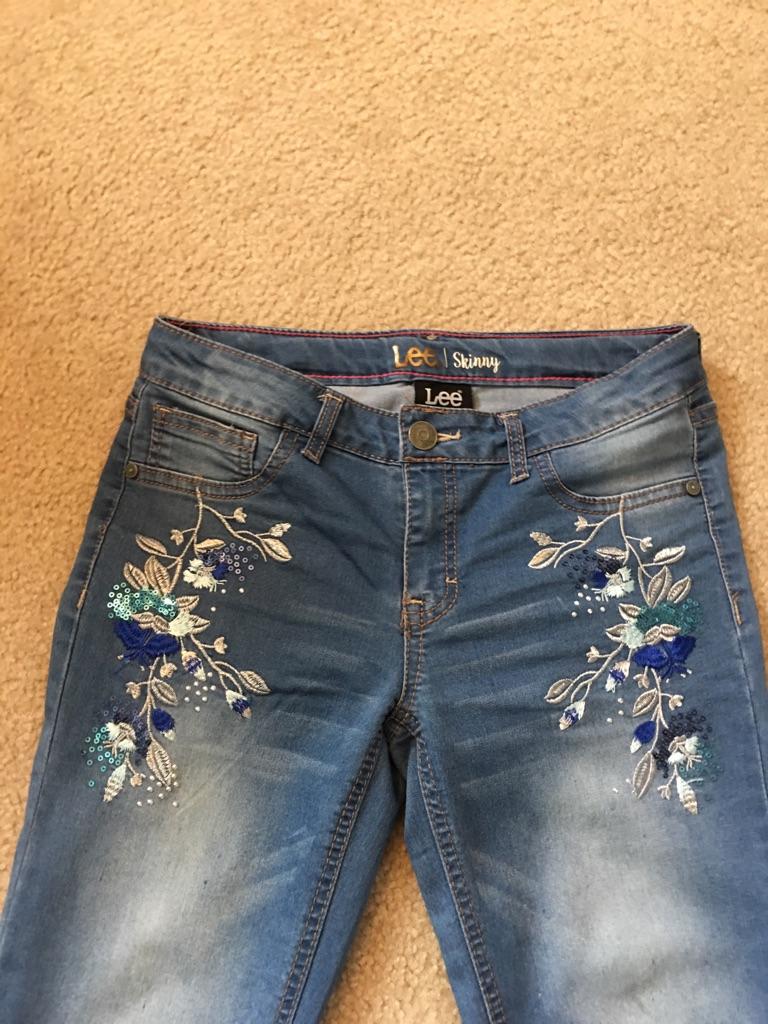 Girl's Lee skinny jeans, size 14