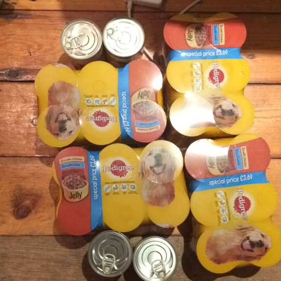 28 Cans Of Dog Food