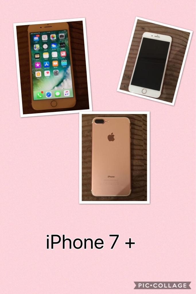 iPhone 7 + rose gold
