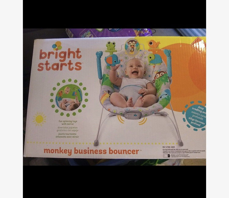Bright Starts Monkey Business Baby Bouncer