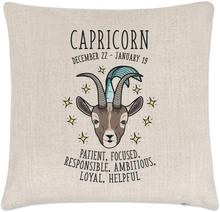 Horoscope linen cushion cover