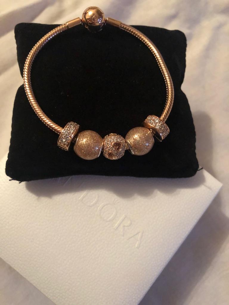 Rose Gold Pandora Charm Bracelet