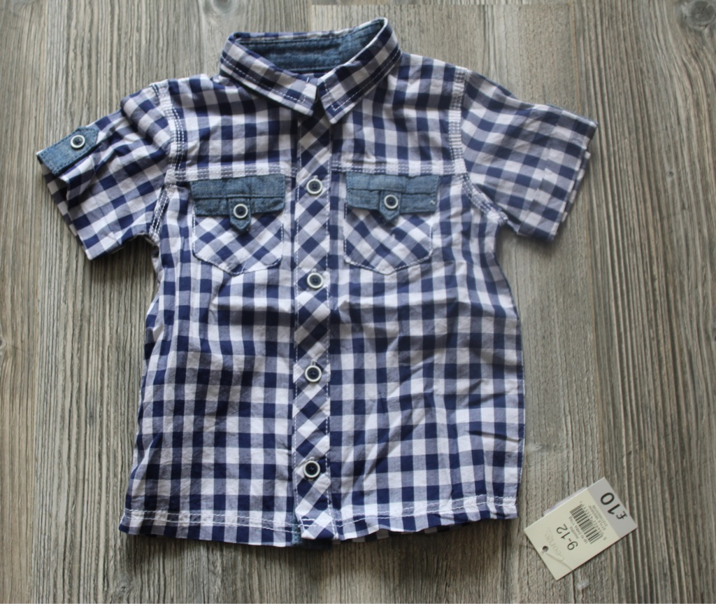 Baby boy summer cheque shirt 9-12 months