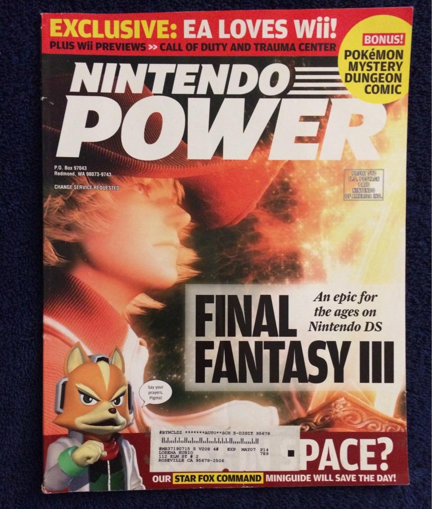 Nintendo Power Magazine Final Fantasy lll 🎮🗞