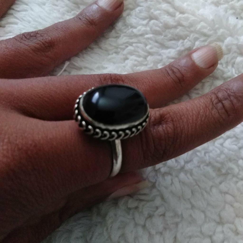 Navajo Onyx Ring