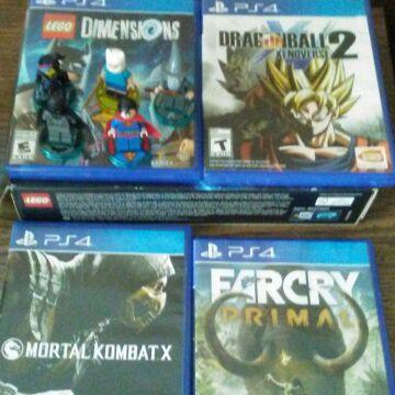 DragonBall Xenoverse 2/Lego Dimension/FarCry Primal/Mortal Kombat