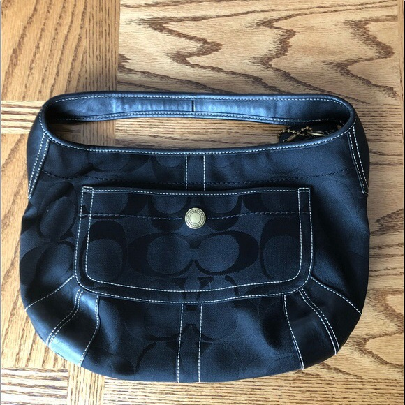 Coach Black Signature C Small Hobo