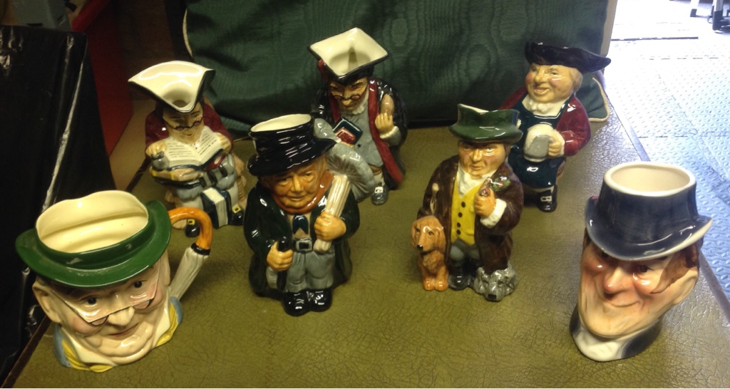 Collection of 7 Toby Character Jugs for Sale