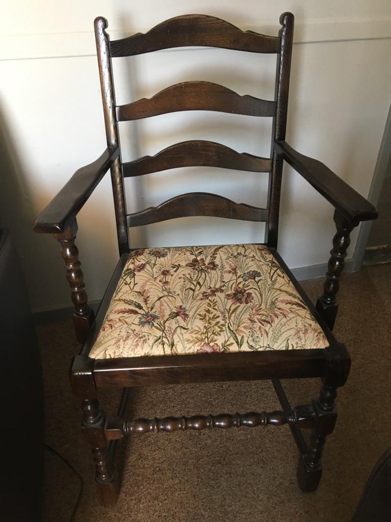 Ladder Back oak carver chair