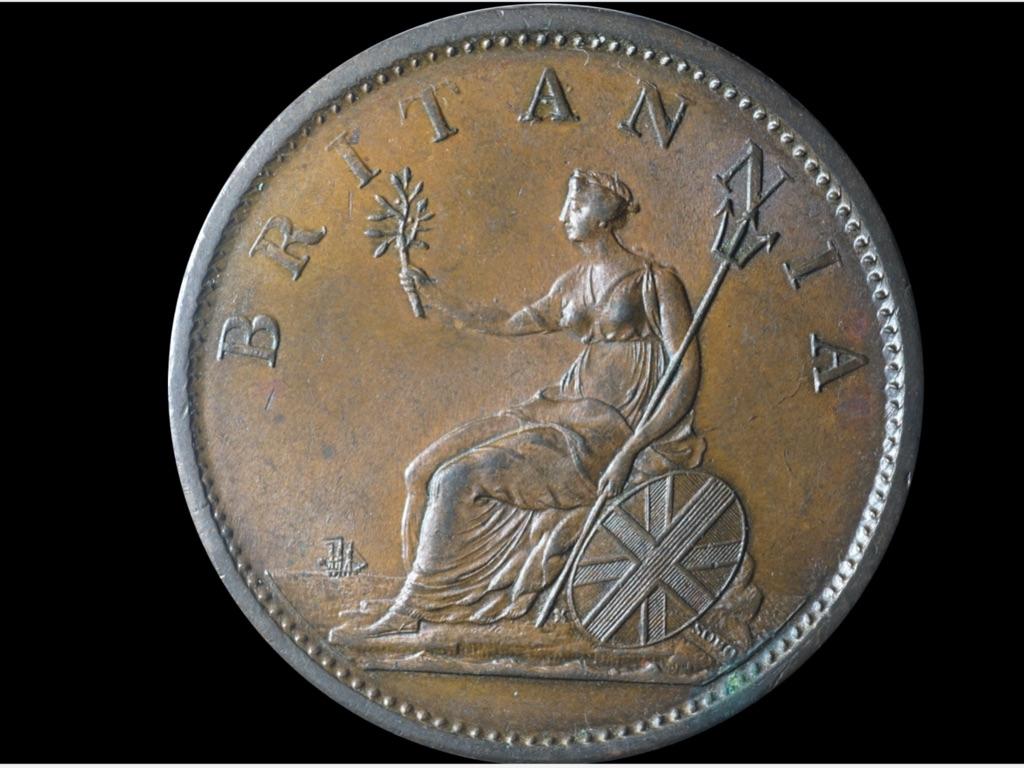 1806 G111 half penny EX C